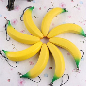 ChenXi Shop 1pcs 9.5CM Simulated Banana Soft Pendant Fruit Fun Toys Soft Gift