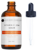 Vitamin C Serum for Face 20% with Hyaluronic Acid & Vitamin E by Kate Blanc. Anti-ageing to Reduce Fine Lines, Wrinkles, Dark Spots, Scars, Acne. Tighter, Toned Skin.