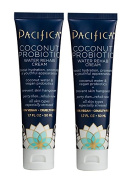 Pacifica Coconut Priobiotic Water Rehab Cream (Pack of 2) with Aloe Barbadensis Leaf Juice, Coconut Water, Vitamin E and Plant Amino Acid Complex, 50ml