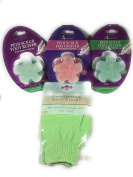 3 Pedi Scrub Foot Buffers with Exfoliating Bath Gloves