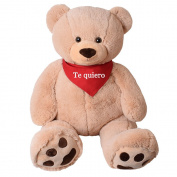 TE-Trend XXL Giant teddy Bear Stuffed Cuddle Animal Giant plush Big teddy bear bear Rico Beige 135 cm with Paws - Rico te quiero Beige