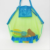 Hotportgift Large Mesh Tote Bag Clothes Toys Carry All Sand Away Beach Bag 45*26*45cm