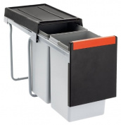 FRANKE 134.0039.554 Sorter Cube 30 / manual pullout waste separation system / 1 x 10 L – 1x 20 L Container