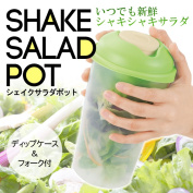 Sheikh salad pot dip case & fork with salad Bento lunch box vegetable plastic bottle sealed containers diet fruit bottle storage container salad Cup (search) buying-Sheikh salad pot.