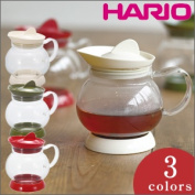 HARIO (hario) jumping tea server JTS-35-OW/JTS-35-OG/JTS-35-R easy jumping to pleasure and tea server. Remove the lid and can make it easy to clean.