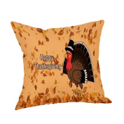 Thankful Pillow Case New , Happy Thanksgiving Pillow Cases Linen Sofa Cushion Cover Home Decor