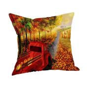 Christmas Pillow case,MEIbax Happy Thanksgiving Pillow Cases Linen Sofa Cushion Cover Home Decor