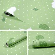 BABYQUEEN PVC Self-Adhesive Waterproof Wallpaper Warm Dormitory Bedroom Children Room Furniture Renovation Sticker Dark Green