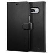 Spigen Galaxy Note 8 Premium Wallet Case Black,Convenience,Premium Quality, 3 Card slots + Cash