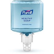 PURELL Foodservice HEALTHY SOAP Foam Refill - Fragrance Free Foam, 1200mL Refill for ES6 Dispenser (Pack of 2) - 6473-02