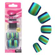 CLAVUZ Fake Nails False Nail Full Cover Short Oval Nails Round Nails Artificial Press On Nails Tips Natural 24PCS