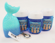 Bath and Body Works Pocketbac Holder and 3 Sanitising Hand Gels Blue Mermaid Mermazing