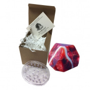 Star Ruby SoapRock by TS Pink, 180ml Decorative Glycerin Soap, bundle with Spectrum Oval Soap Saver, Soap that looks like a Rock, (2 Items) Boxed with Insert Card