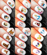Minnie Mouse Minnie Mouse Classic Nail Art Waterslide Decals Assortment Mega Pack! - Salon Quality Over 400 Nail Decals - Mickey Minnie Mouse Ears Head Disney castle and more