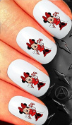 Christmas Nail art decals transfer stickers Minnie mouse candy cane disney characters cute 20 cs3