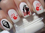 Halloween nail art set x 20 horror movie SCREAM Decals water transfer decals stickers manicure set #H3
