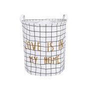 Blanket Storage Baskets Canvas Collapsible Waterproof, Store Toys, Laundry, Clothes, 20 * 41cm