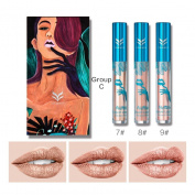 New Holographic Waterproof Liquid Lipstick Soft Matte Long-Lasting Diamond Metal Shine Lip Gloss