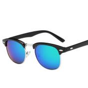 Mchoice Men Women Square Vintage Mirrored Sunglasses Eyewear Outdoor Sports Glasses