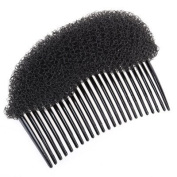 Ladies Hair Styling Comb Volume Bouffant Beehive Shaper Roller Foam Accessories - BLACK - by Generic