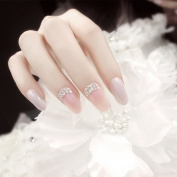 Elegant And Simple Wedding Ceremony Nail Salon long girl False Nails Tips 24 Pieces Set