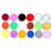 Susenstone 18 Colours Acrylic Carving Powder Dust UV Gel Design 3D Tips