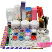 Coscelia 6 Colour Acrylic Powder Glitters Liquid Acrylic Nial Kits Nail Art Manicure Set