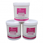 Coscelia Jumbo Size Acrylic Powder Builder Nail Art 120g Colour Pink White Clear