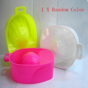 Siam Circus Nail Art Tips Acrylic Powder Polish Remover Manicure Soak Bowl-Random Colour