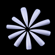 JUMP Salon Hot Long Sharp Acrylic False Nail Art Tips - 500/1000/1500Pcs Natural White Clear
