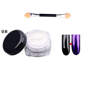 Ownsig 1 Pc Glitter Nail Powder Mirror Surface Effect Used With UV Top Coat Charming Colour Nail Art Tips #8