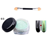 Ownsig 1 Pc Glitter Nail Powder Mirror Surface Effect Used With UV Top Coat Charming Colour Nail Art Tips #3
