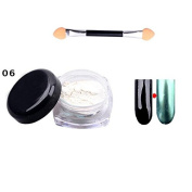 Ownsig 1 Pc Glitter Nail Powder Mirror Surface Effect Used With UV Top Coat Charming Colour Nail Art Tips #6