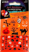 Kiss Art Stickers for Nails & Body Halloween Edition Glow in the Dark ~ Bone-chilling70810
