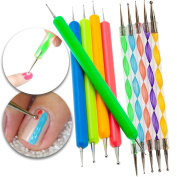 Nail Art Accessories Equipment Set Kit of 10pcs Dotters Dotting Marbling Tools With Different Dots Sizes