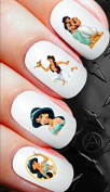 50 Nail Decals - Disney Princess Jasmine aladdin Nail sticker decals set n142buy 1 get 1 of our choice free
