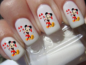 Christmas Nail art decals transfer stickers mickey mouse candy cane disney 40 n170