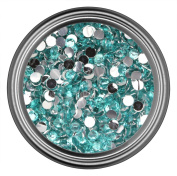 Light Blue Rhinestones in 3mm for Flatback Nail Art Cabochon Diy Decoration and Craft