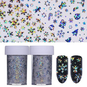 CoulorButtons 2 Roll Christmas Tree Elk Snowflake 4100cm Holographic Nail Foil Laser Nail Art Transfer Sticker