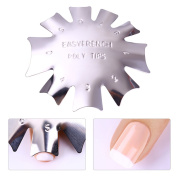 BORN PRETTY Nail Art French Tip Line Edge Cutter Stencil Trimmer Manicure Styling Tool DIY Kit #3