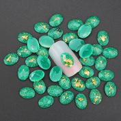 10pcs 3d nail art decortion glitter rhinestone green resin drill for nail stud acrylic DIY accessories for nails