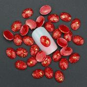 10pcs 3d Nail Art Decorations Glitter Rhinestone Red Resin Gem Drills for Nail Accessories Nail Acrylic Stud