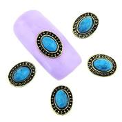 10 Pcs/Lot Vintage 3D Nail Art Beauty Crystal Blue Jewellery Decorations 2 Shape To Select DIY Manicure Studs