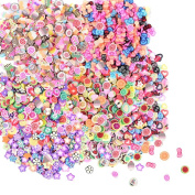 TUANTUAN 2500 Pcs 3D Fimo Nail Art Nail Tips Polymer Clay Slices Decoration Fimo Decal Pieces Accessories,10 Styles