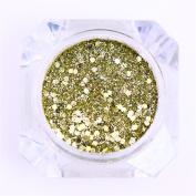 BONNIESTORE 1g Nail Sequins Powder Dust Mixed Sizes Hexagon Iridescent Flakies Glitter Paillette Nail Art Decoration for Women DIY Accessories