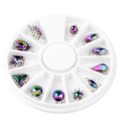 Showking Hot! New Nail Image Hollow Grid Stencil Manicure Stickers for girls