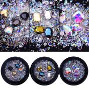 BONNIESTORE Nail Sequins AB Colour Symphony Rhinestone Crystal Beads Sharp Bottom DIY Manicure 3D Nail Art DIY Decoration