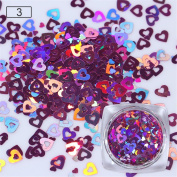 BONNIESTORE 0.5g Holographic Nail Sequins Heart Maple Leaf Water Drop Colourful Glitter Nail Decals Paillette Manicure Nail Art Decoration