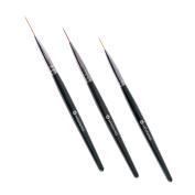 Winstonia 3pc Pro Nail Art Long Striping Brush Brushes Striper Acrylic Set