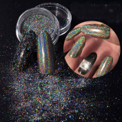 Vinjeely Nail Flakes Bling Rainbow Laser Nail Art Sequins Holographic Glitter Powder